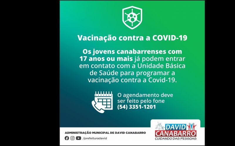 Foto de capa da notícia: JOVENS DE 17 ANOS OU MAIS JÁ PODEM AGENDAR A VACINAÇÃO CONTRA A COVID-19
