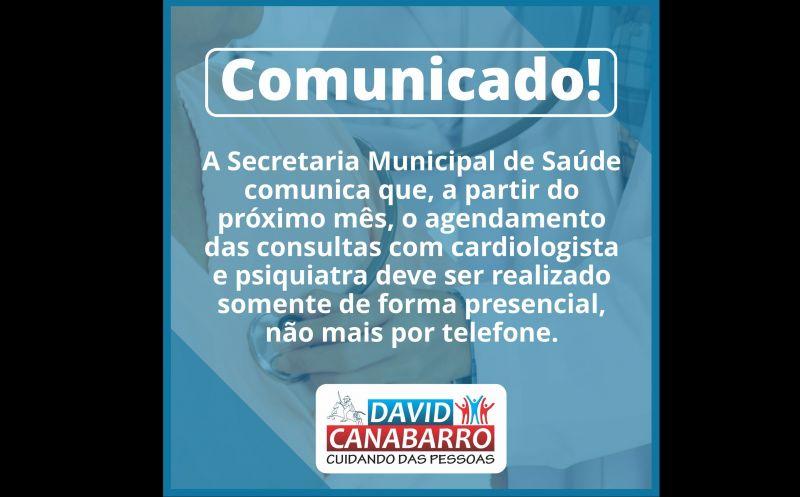 Foto de capa da notícia COMUNICADO DA SECRETARIA DE SAÚDE!