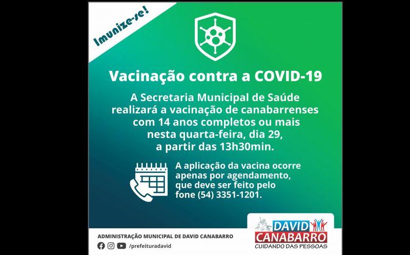 Foto de capa da notícia SECRETARIA DE SAÚDE INICIA AMANHÃ A VACINAÇÃO DE ADOLESCENTES COM 14 ANOS OUU MAIS