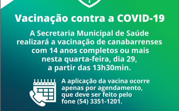Foto de capa da notícia: SECRETARIA DE SAÚDE INICIA AMANHÃ A VACINAÇÃO DE ADOLESCENTES COM 14 ANOS OUU MAIS