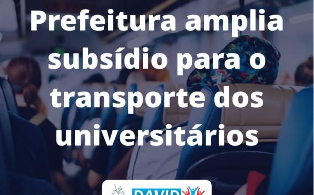 Foto de capa da notícia: MUNICÍPIO AMPLIA SUBSÍDIO PARA O TRANSPORTE DOS UNIVERSITÁRIOS