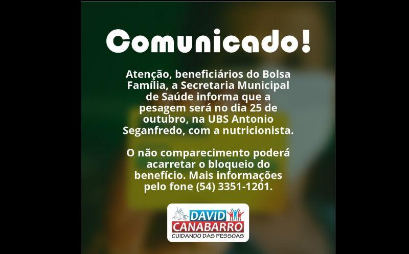Foto de capa da notícia COMUNICADO DA SECRETARIA MUNICIPAL DE SAÚDE!