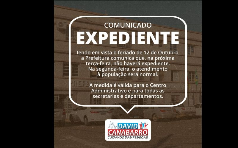 Foto de capa da notícia: COMUNICADO EXPEDIENTE!