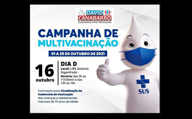 Foto de capa da notícia: DIA D DA MULTIVACINAÇÃO DE CRIANÇAS E ADOLESCENTES SERÁ NO SÁBADO