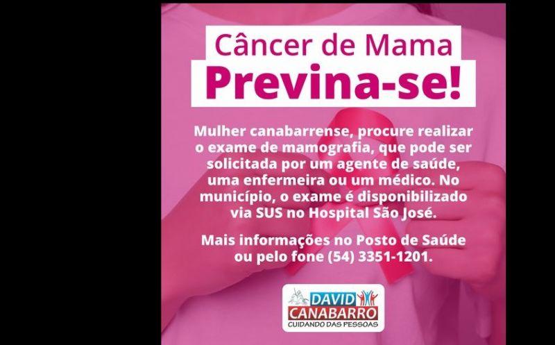 Foto da Notícia MAMOGRAFIA PODE SER FEITA NO HOSPITAL SÃO JOSÉ