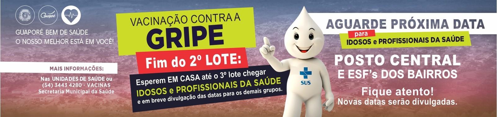 Banner 5 - Vacinas Gripe - Cidade Fim 2º Lote
