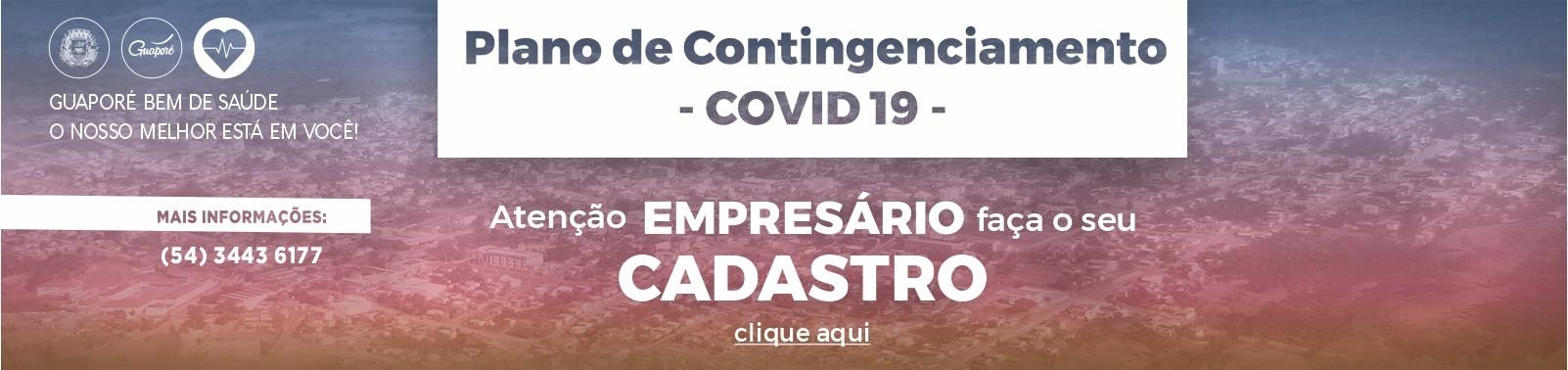 Banner 6 - Plano Contingenciamento - CADASTRAMENTO