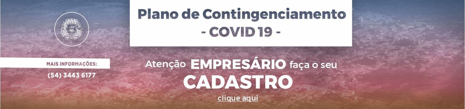 Banner 4 - Plano Contingenciamento - CADASTRAMENTO