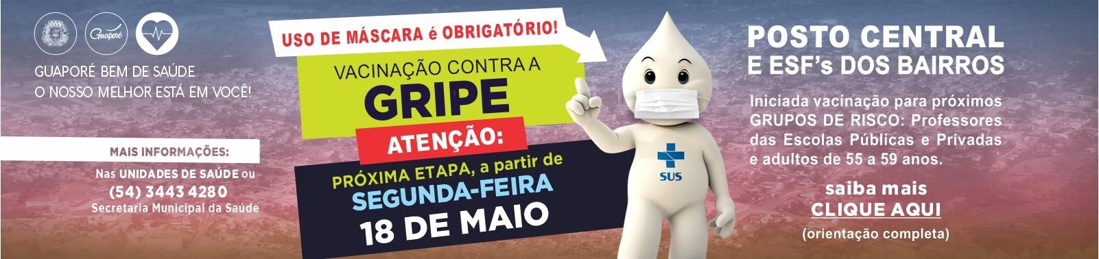 Banner 7 - Vacinação GRIPE - 18 DE MAIO