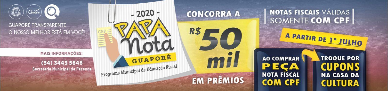 Banner 4 - Papa Nota - CUPONS