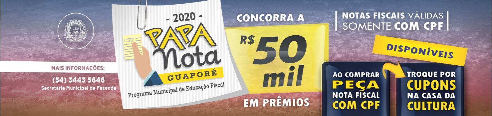 Banner 5 - Papa Nota - CUPONS DISPONÍVEIS