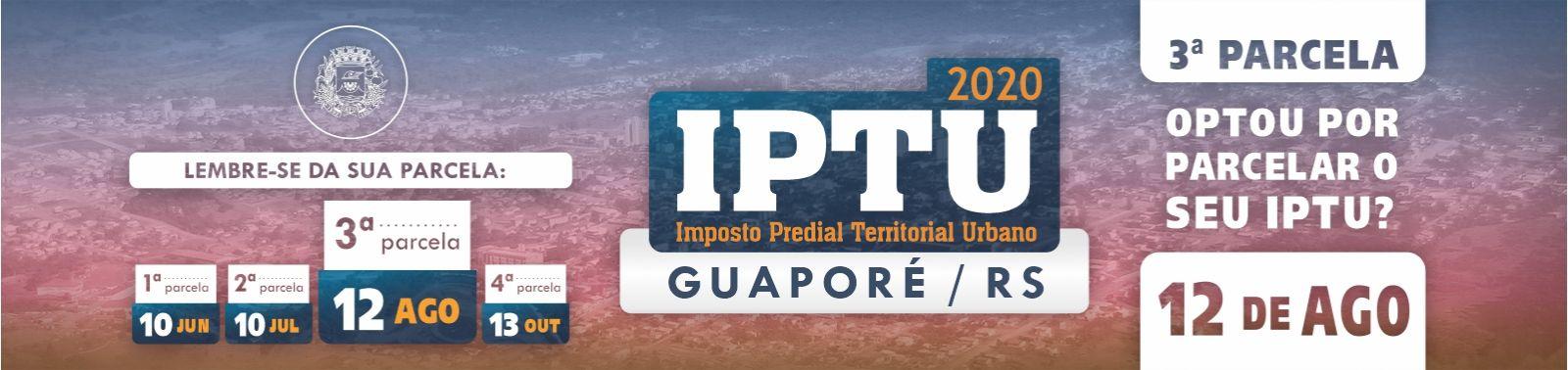 Banner 2 - IPTU - 3ª Parcela