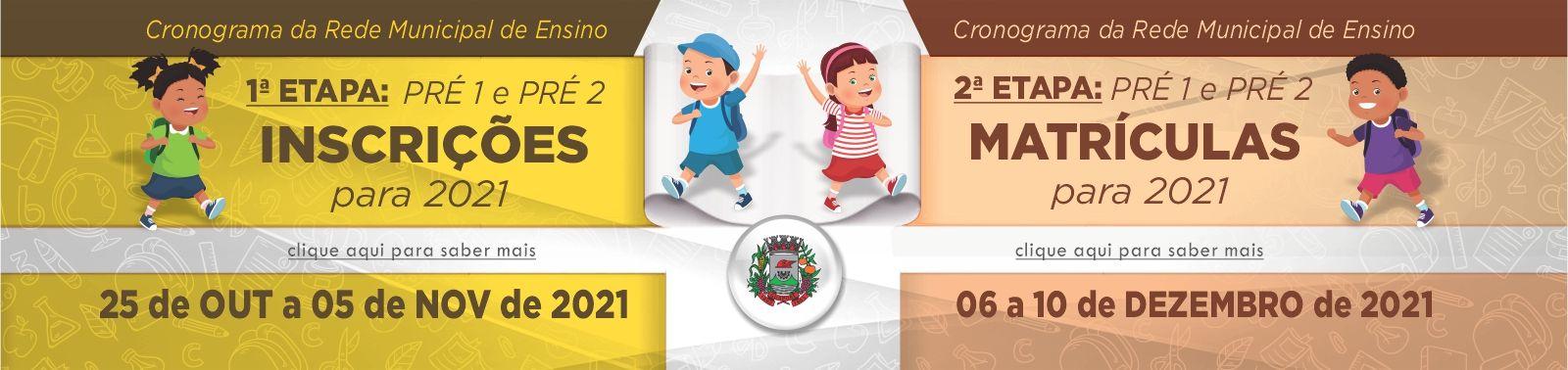 Banner 1 - INSCRIÇÕE PRÉ 1 E PRÉ 2 - 2022