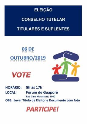 Foto de capa da notícia: Eleição 2019: Domingo é dia de eleger os novos conselheiros tutelares de Guaporé