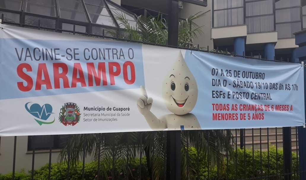 Foto de capa da notícia: Secretaria da Saúde realiza Dia D contra o Sarampo