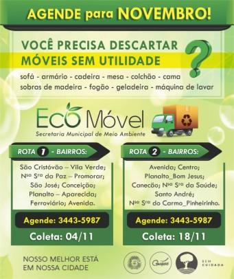 Foto de capa da notícia: Eco Móvel: Agende o recolhimento dos volumosos para o mês de novembro