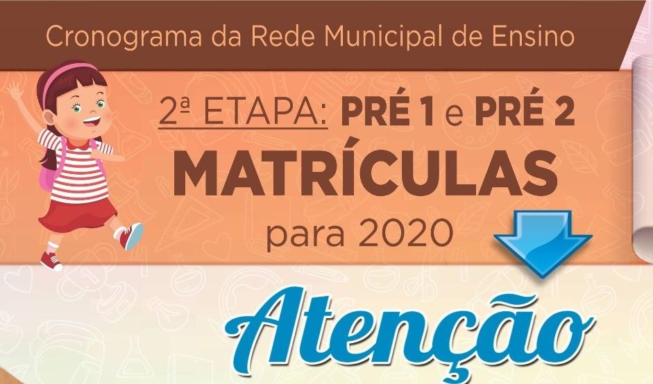 Foto de capa da notícia: Matrículas na Rede Municipal de Ensino Pré 1 e Pré 2