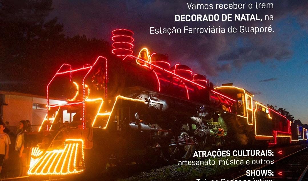 """Foto de capa da notícia: Guaporé na rota do projeto """"Natal nos Trilhos"""""""