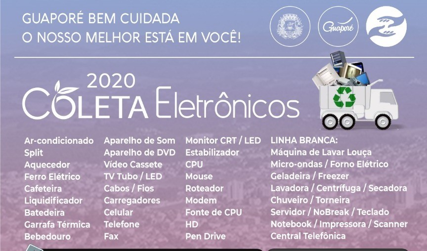 Foto de capa da notícia: Coleta de lixo eletrônico terá três pontos na cidade em 1 de fevereiro