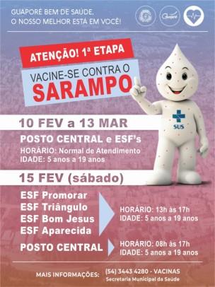 Foto de capa da notícia: Todos contra o Sarampo