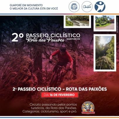 """Foto de capa da notícia: Festival Multicultural GuapoRock será abrilhantado com o 2º Passeio Ciclístico """"Rota das Paixões"""""""