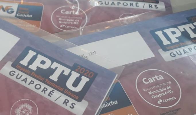 Foto de capa da notícia: Poder Público encaminha carnês do IPTU para contribuintes em Guaporé