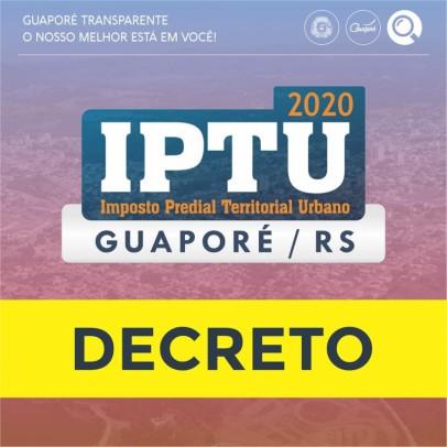 Foto de capa da notícia: Poder Público estabelece nova data para o IPTU 2020