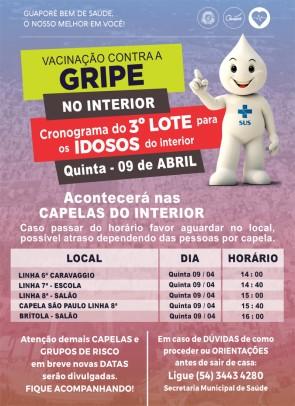 Foto de capa da notícia: Contra a gripe! Secretaria de Saúde confirma imunização de idosos na zona rural de Guaporé