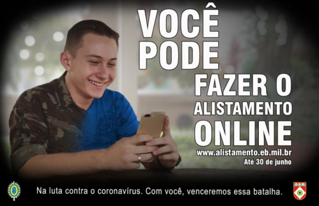 Foto de capa da notícia: Junta do Serviço Militar orienta jovens a realizar o alistamento militar online