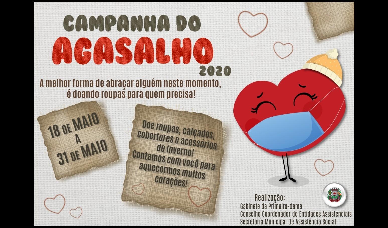 Foto de capa da notícia: Campanha do Agasalho: O frio chegou! Precisamos ficar em casa, mas movimentar a solidariedade!