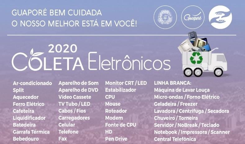 Foto de capa da notícia: Resíduos Eletrônicos: Coleta acontecerá dia 23 de maio