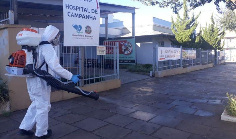 Foto de capa da notícia Contra o Coronavírus: começa nessa semana atividades de desinfecção de vários locais de Guaporé.