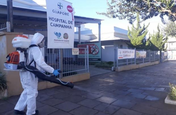 Foto de capa da notícia: Contra o Coronavírus: começa nessa semana atividades de desinfecção de vários locais de Guaporé.