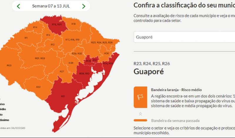 Foto de capa da notícia: Guaporé prossegue na bandeira laranja