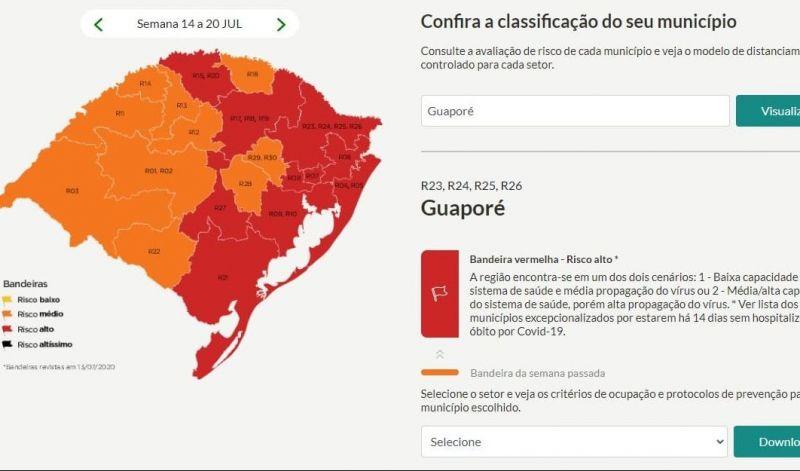 Foto de capa da notícia Guaporé na bandeira vermelha por sete dias