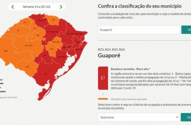 Foto de capa da notícia: Guaporé na bandeira vermelha por sete dias