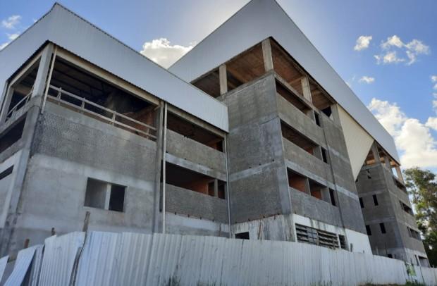 Foto de capa da notícia: Avançam as obras no Ginásio Municipal Multiuso de Guaporé