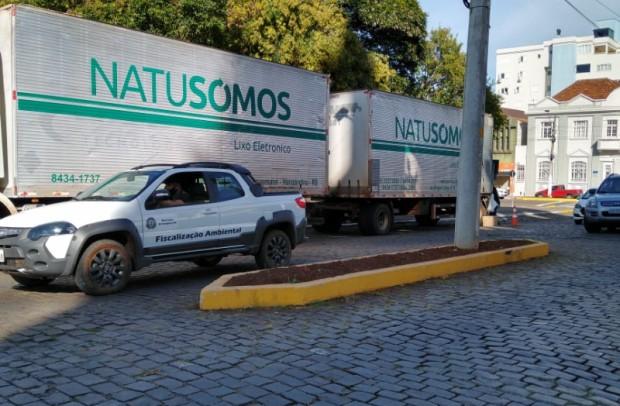 Foto de capa da notícia: Cerca de seis toneladas de resíduos eletrônicos foram recolhidas em Guaporé