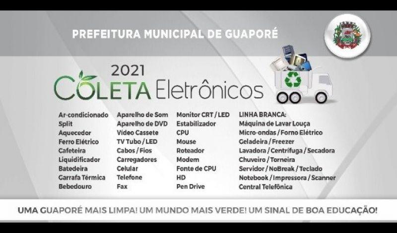 Foto de capa da notícia: Secretaria de Meio Ambiente realizará mais uma etapa do recolhimento de resíduos eletrônicos