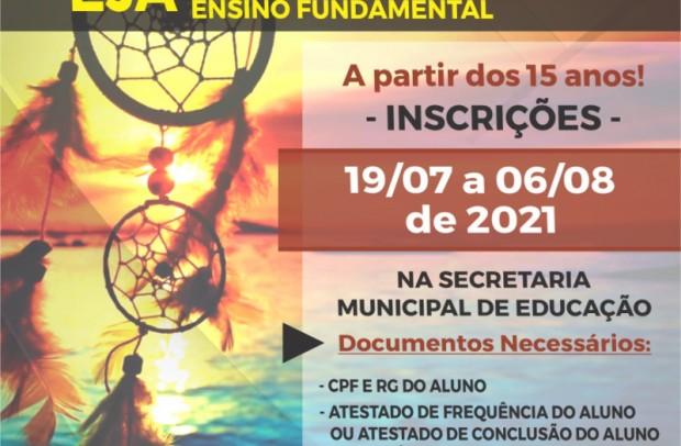 Foto de capa da notícia: Secretaria de Educação abre inscrições para Educação de Jovens e Adultos