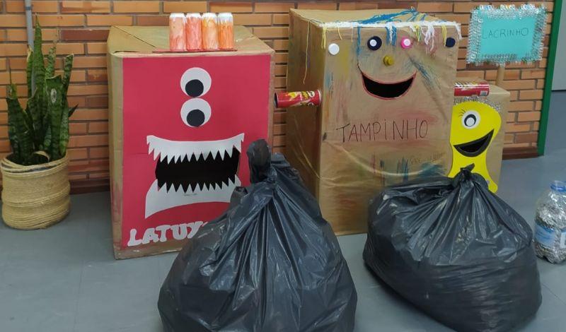 Foto de capa da notícia: Crianças da Rede Pública Municipal doam resíduos recicláveis para ações solidárias