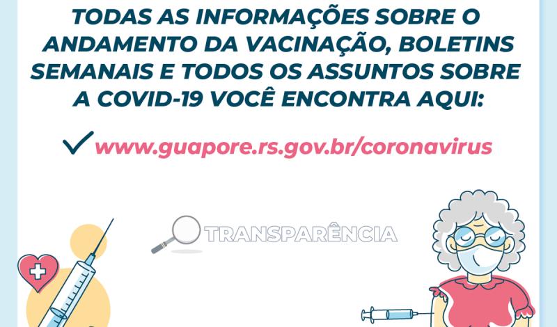 Foto de capa da notícia: Transparência Portal de Guaporé traz todas as atualizações sobre a pandemia da Covid-19