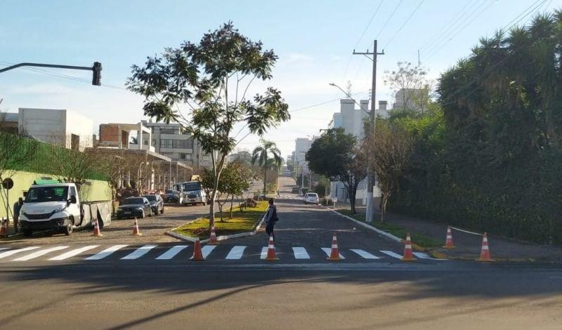 Foto de capa da notícia: Infraestrutura Administração Municipal reinaugura melhorias na rua João Manoel Pereira