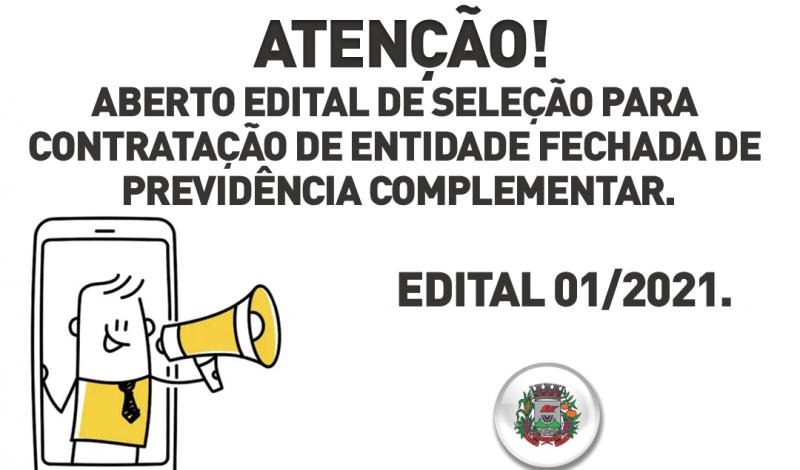 Foto de capa da notícia: Atenção! Aberto edital de seleção para contratação de entidade fechada de previdência complementar.