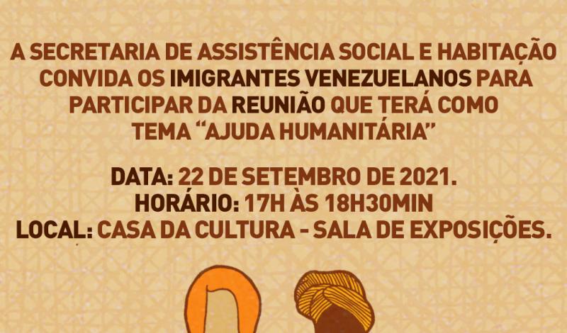 Foto de capa da notícia: Imigração: Imigrantes Venezuelanos são convidados para reunião na Casa da Cultura