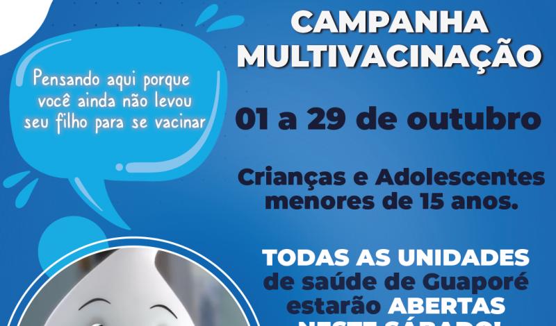 Foto de capa da notícia: Saúde: Inicia a Campanha Nacional de Multivacinação.