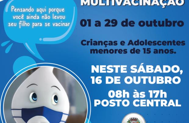 Foto de capa da notícia: Campanha Nacional de Multivacinação tem Dia D no sábado (16/10) no POSTO CENTRAL