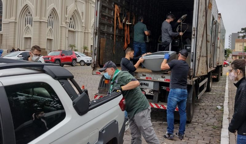 Foto de capa da notícia: Mais de quatro toneladas de resíduos eletrônicos recolhidos pela Administração Municipal de Guaporé
