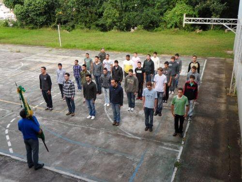 Foto de capa da notícia: Vinte Sete jovens dispensados do Serviço Militar realizaram juramento a Bandeira