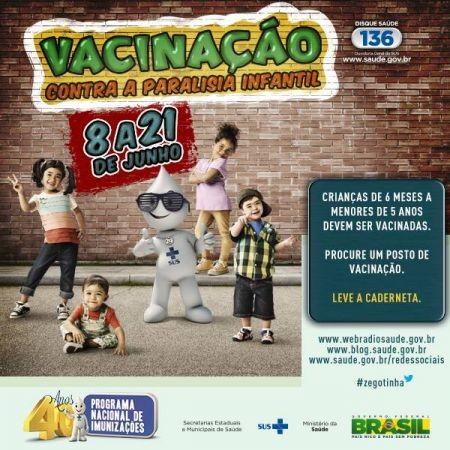 Foto de capa da notícia: Vacinação Contra a Paralisia Infantil